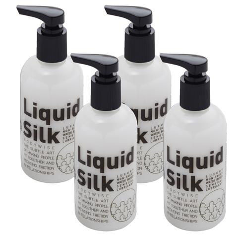 Liquid Silk Personal Water Based Lubricant 250ml (4 Pack)