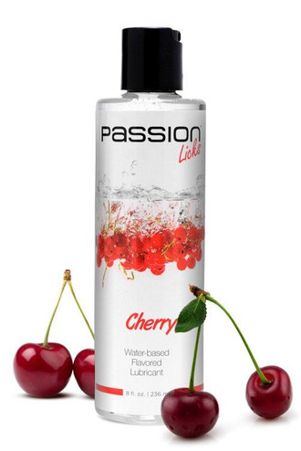 Passion Licks Cherry Water Based Flavored Lubricant - 8 oz / 236 ml