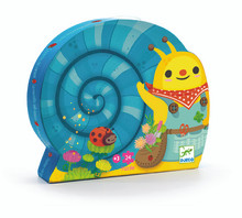 Snail goes plant picking 24 Piece Jigsaw Puzzle by Djeco