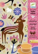 Woodland Wonderland Sand and Glitter Art by Numbers by Djeco