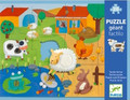 Farm Tactile Giant 20 Piece Jigsaw Puzzle by Djeco