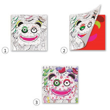 Monster Colouring Surprise Cards by Djeco