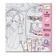 Pupi's Little Doors Colouring Surprise Cards by Djeco