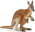Kangaroo with Joey Figure by Papo