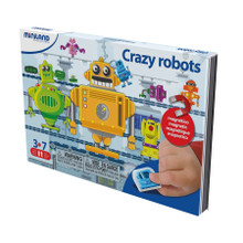 Crazy Robots On The Go Magnetic Travel Game by Miniland Educational