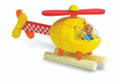 Wooden Magnetic Helicopter by Janod