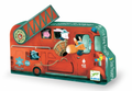 The Fire Truck Silhouette 16 Piece Jigsaw Puzzle by Djeco