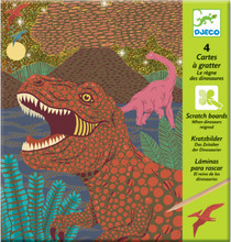 When Dinosaurs Reigned Scratch Boards by Djeco