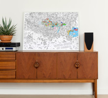 Giant Colouring Poster USA by OMY