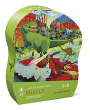 Land of Dinosaurs 24 Piece Mini Puzzle by Crocodile Creek