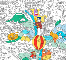 Giant Colouring Poster France by OMY