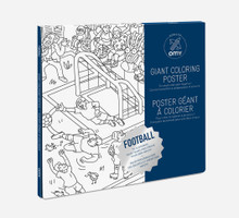 Giant Colouring Poster Football by OMY