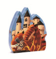 The Dragon's Castle 54 Piece Jigsaw Puzzle by Djeco