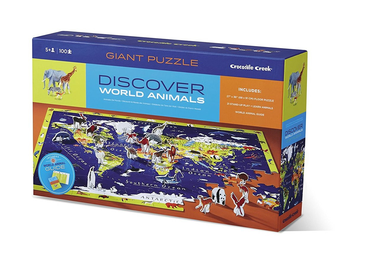 100 piece Discover Puzzle World Good