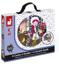 6 Cinderella Scratch Cards by Janod