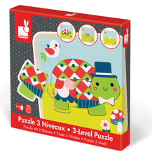 Turtles 3 Level Puzzles by Janod