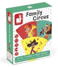 Family Circus Happy Families Card Game by Janod