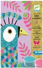 Dazzling Birds Sand & Glitter Boards Craft Kit by Djeco