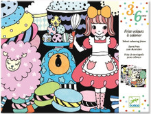 Sweet Parade Velvet Colouring Frieze by Djeco