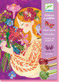 The Scent of Flowers Glitter Boards Craft Kit by Djeco