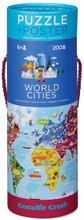 World Cities Poster & 200 Piece Puzzle by Crocodile Creek