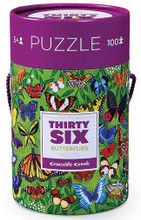 Thirty-Six Butterflies 100 Piece Puzzle by Crocodile Creek