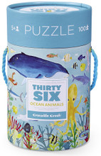 Thirty-Six Ocean Animals 100 Piece Puzzle by Crocodile Creek