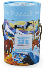 Thirty-Six Ice Age Animals 100 Piece Puzzle by Crocodile Creek