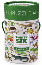 Thirty-Six Amphibians & Reptiles 100 Piece Puzzle by Crocodile Creek