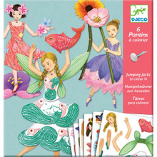 6 Jumping Jacks to Colour In Fairies by Djeco