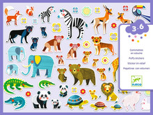Mothers & Babies Puffy Stickers by Djeco