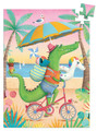 Croco Beach 60 Piece Mini Jigsaw Puzzle by Djeco