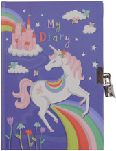 Lockable Unicorns and Rainbow Diary by Tiger Tribe