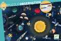 Space 200 Piece Observation Jigsaw Puzzle and Booklet by Djeco