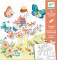 Lady Butterfly Colouring Surprise Cards by Djeco