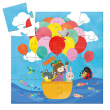 The Hot Air Balloon 16 Piece Jigsaw Puzzle by Djeco