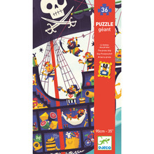 Pirate Ship Giant 36 Piece Jigsaw Puzzle by Djeco
