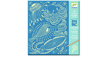 Sea Life Glow in the Dark Scratch Boards by Djeco