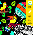 Birdz Velvet Colouring Cards by Djeco Packaging