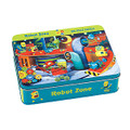 Robot Zone 100 Piece Jigsaw Puzzle by Mudpuppy Metal Tin