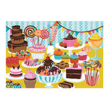 Sweet Treats 24 Piece Double Sided Colour Me Jigsaw Puzzle by Mudpuppy Picture