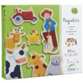 Wooden Farm Magnetics by Djeco Box