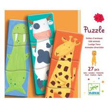 Funny Animals Wooden Puzzle by Djeco Box