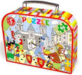 Middle Age Castle 96 Piece Wood Puzzle in a Suitcase by Vilac