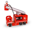 Wooden Fire Engine with 2 Firefighers by Vilac