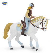 Trendy Riding Women Blue Figure by Papo (horse sold separate)