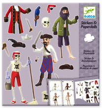 Pirates Stickers and Paper Dolls by Djeco