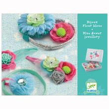 Hair Clips and Hair Elastics Blue Flower Jewel Accessory by Djeco