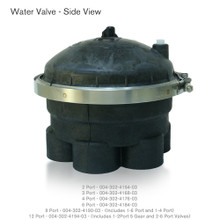 "Water Valve 6 Port 2"" Black 