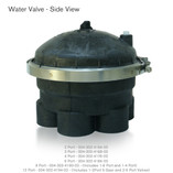 "Water Valve 4 Port 2"" Black 